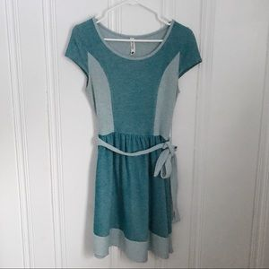 Kensie Blue Jersey Belted Mini Dress XS